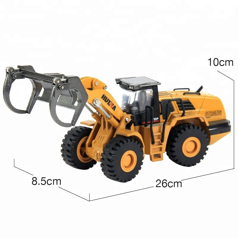 Huina 1713 1:50 Alloy Diecast Timber Loader Size