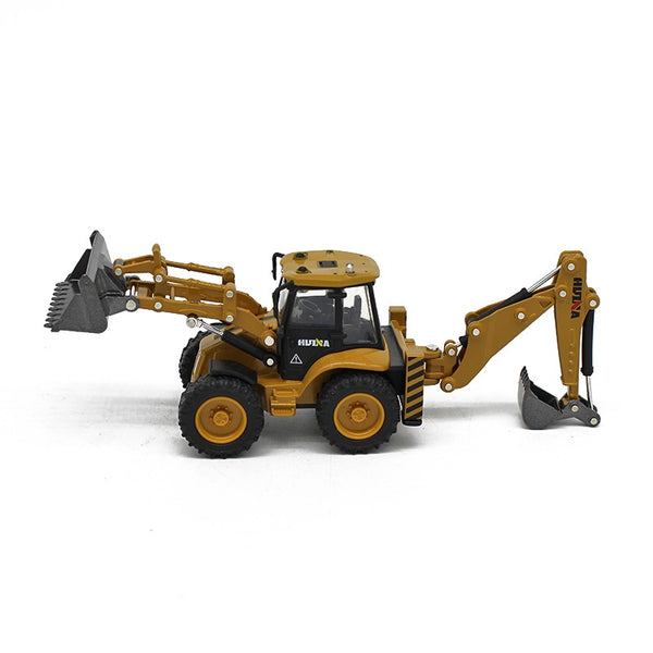 Huina 1:50 Alloy backhoe loader White background