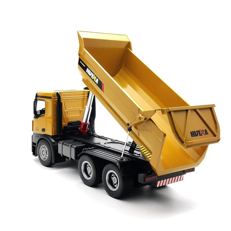 Huina 1582 1:14 All Metal Heavy Duty Dump Truck Toy with 10 Channels