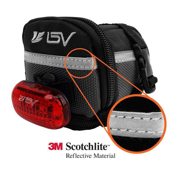 BV Strap-On Bike Saddle Bag, Medium | BV-SB1-M