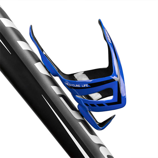 IBERA Lightweight Carbon Fiber Water Bottle Cage, Blue | IB-BC16-BL