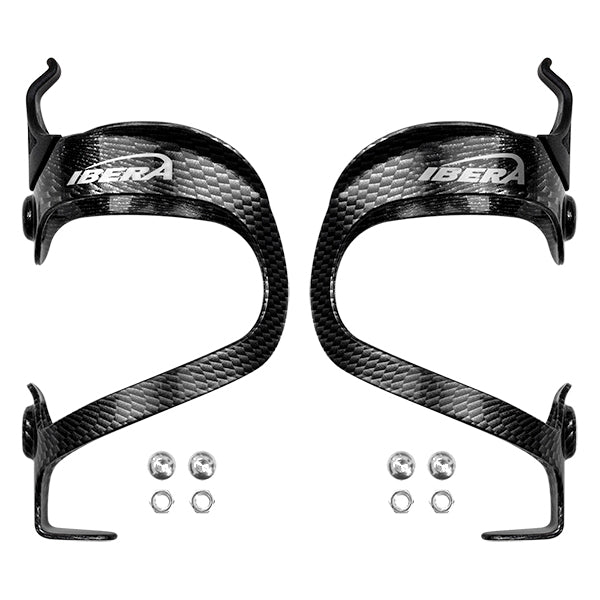 IBERA Aluminum Bottle Cage, PAIR, Carbon | IB-BC5-CB-PAIR