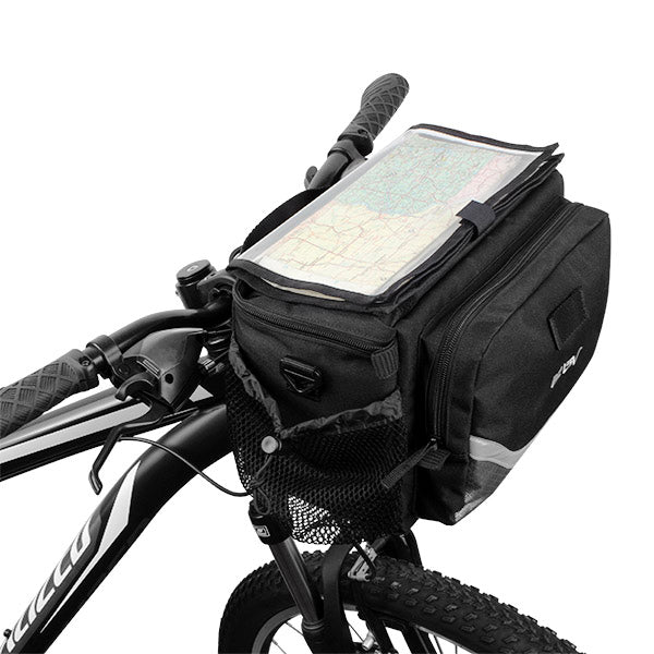 BV Map Sleeve Quick-Release Handlebar Bag With Two Pockets | BV-HB105