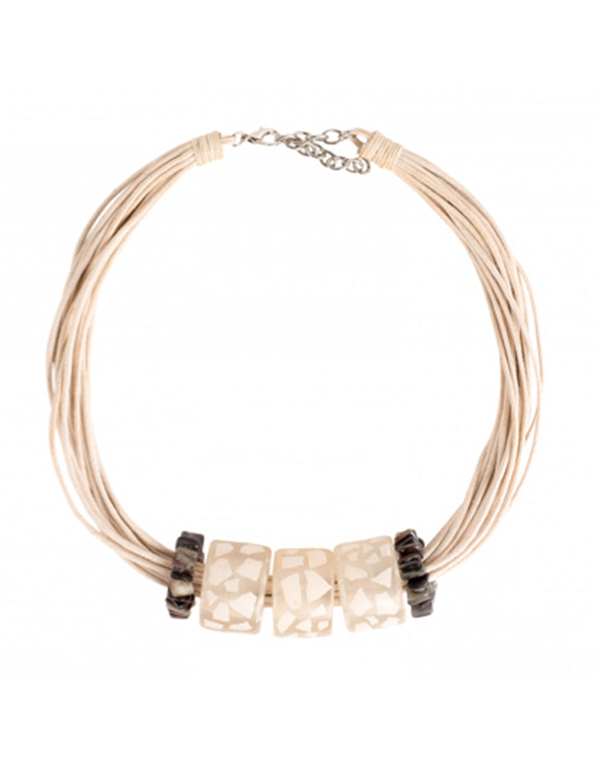Halskette - Eggshell Necklace White