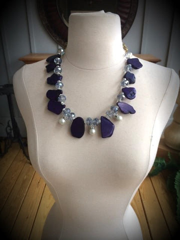 Purple Turquoise Necklace