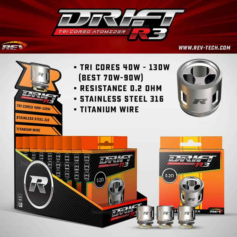 REV Drift Replacement Coil 3pcs