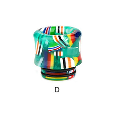 Resin National Flag Curved 810 Drip Tip 0328