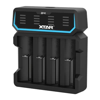 Xtar D4 4-slot Quick Charger with LED Screen