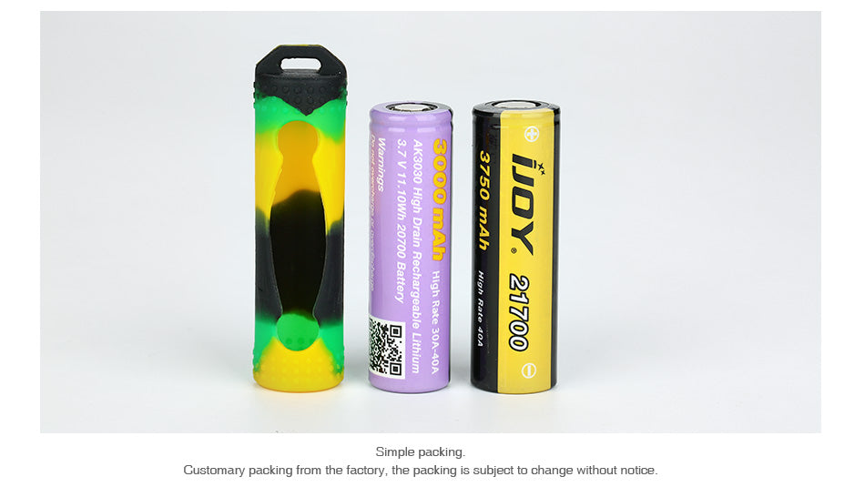 Silicone Case for 20700/21700 Battery