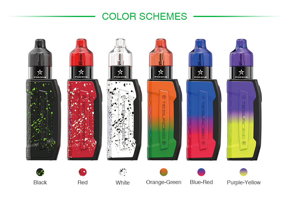 Tesla Falcons Starter Kit with Pod One Atomizer 2000mAh