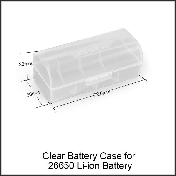 Image result for Clear Battery Case for 26650 Li ion Battery