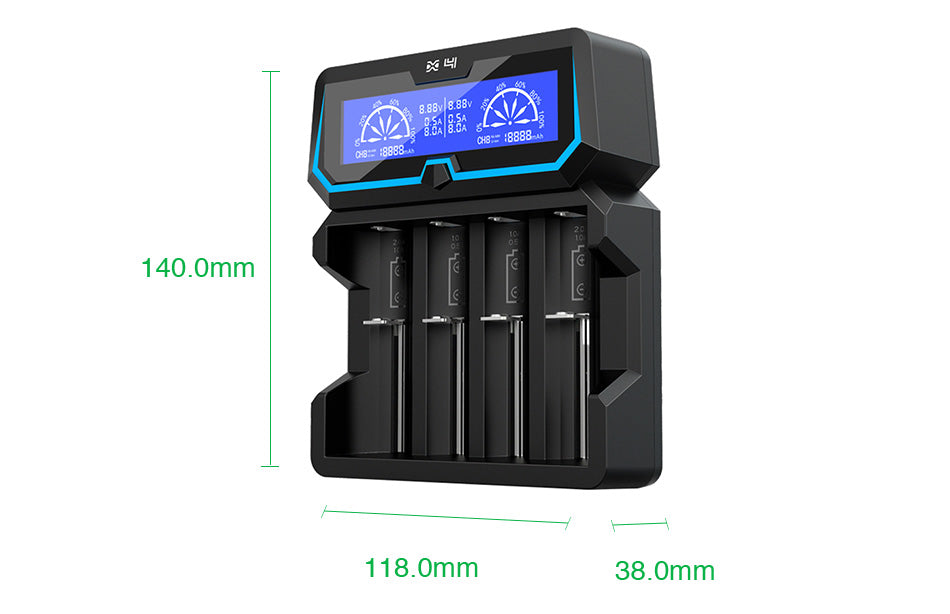 Xtar X4 4-slot Quick Charger with LCD Screen