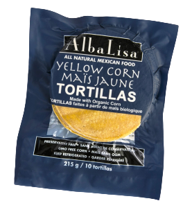 AlbaLisa Yellow Corn Organic Tortillas