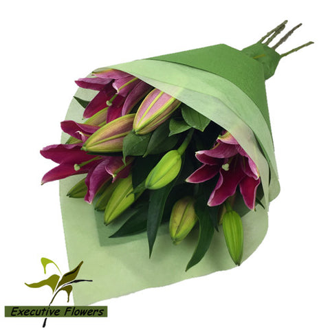 Oriental Lily Flower Bunch