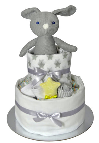 Neutral Newborn Nappy Cake
