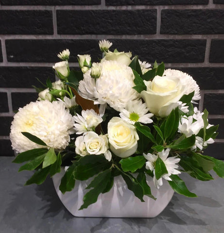 White Ceramic Elegance Arrangement
