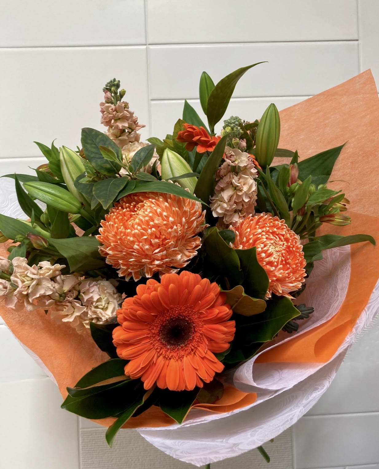 Orange Tingle Bouquet