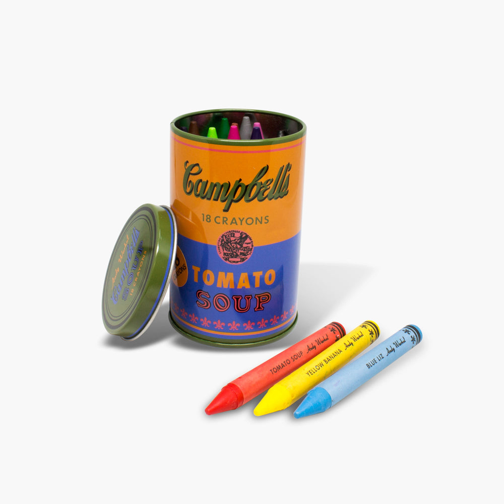 Andy Warhol Soup Can Crayon Set