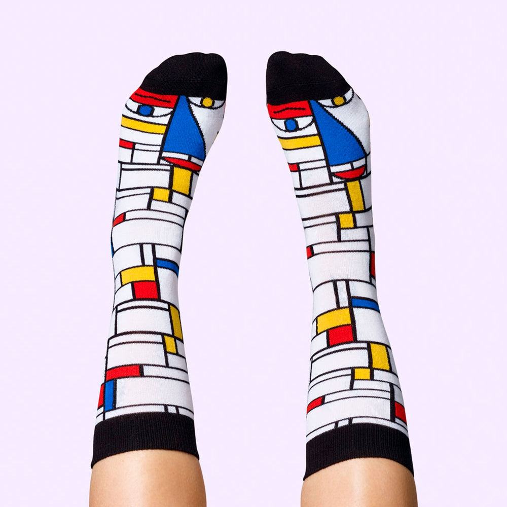 Load image into Gallery viewer, Feet Mondrian Socks