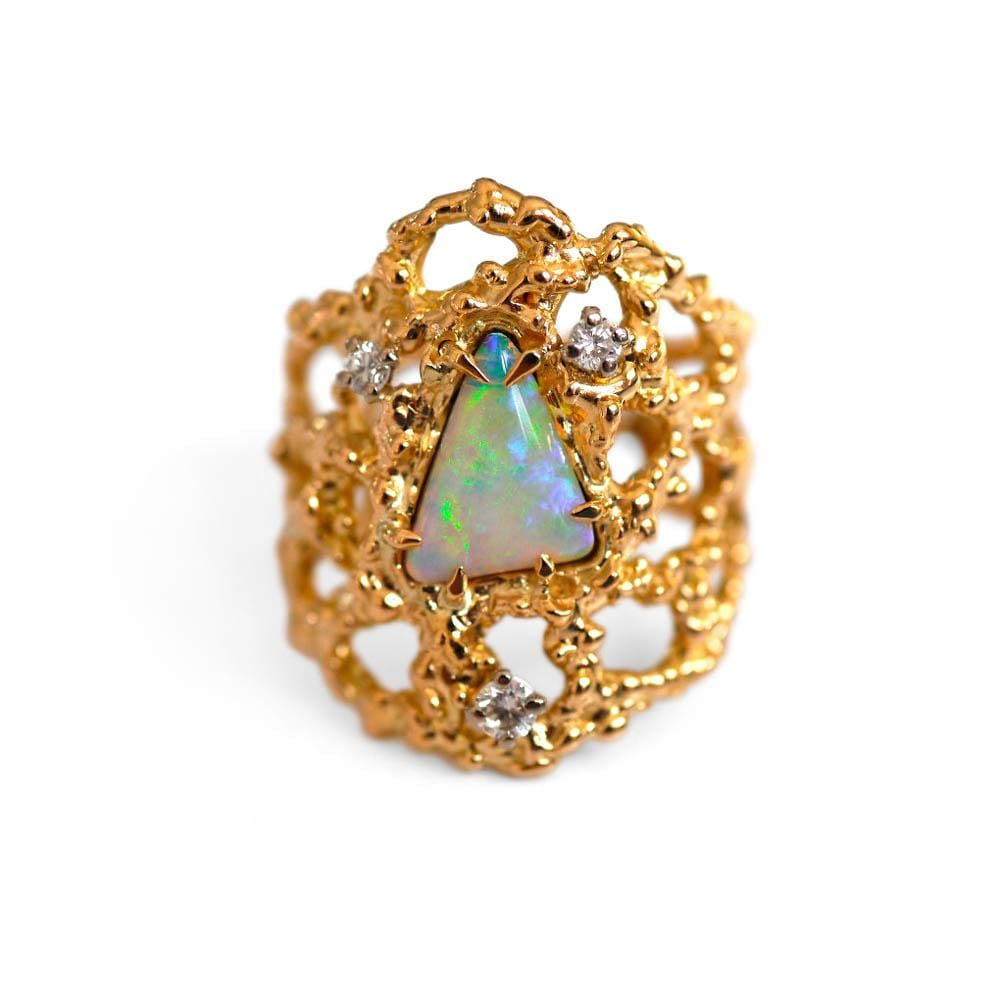 Baroque Rocks vintage gold opal and diamond Opulent cocktail