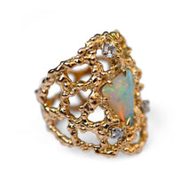 Load image into Gallery viewer, Baroque Rocks vintage gold opal and diamond Opulent cocktail