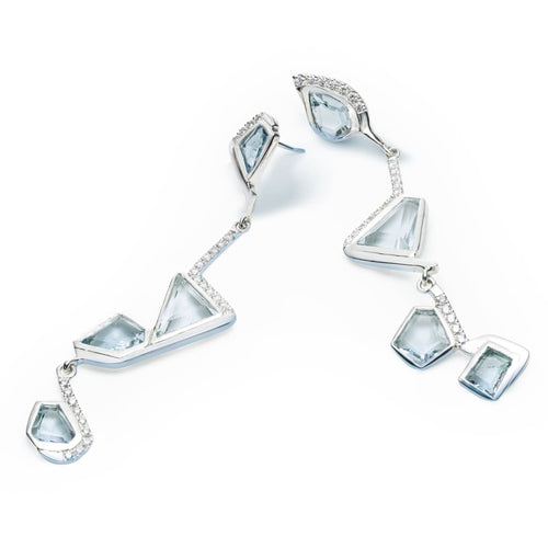 Charlotte Cornelius silver diamond and aquamarine Diamond