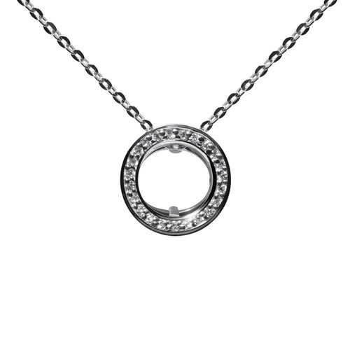 Drutis Jewellery gold and diamond Smart pendant - necklace