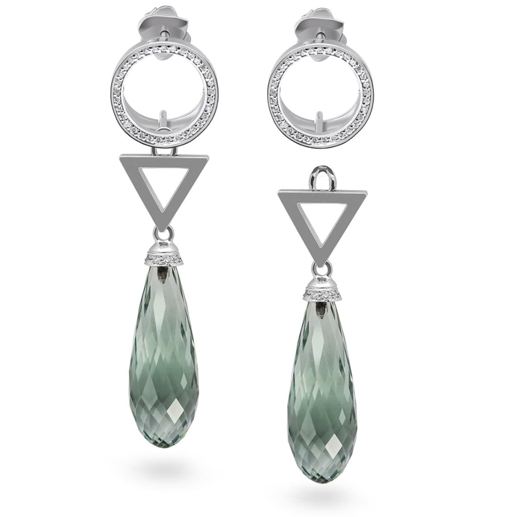 Drutis Jewellery gold diamond and prasiolite Green With Envy