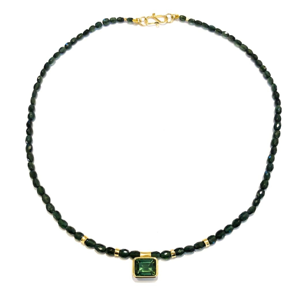 Libby Rak gold and green tourmaline necklace - necklace