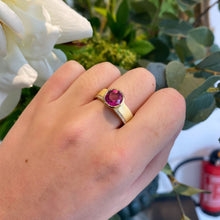 Load image into Gallery viewer, Libby Rak gold diamond and rubellite Signature ring - ring