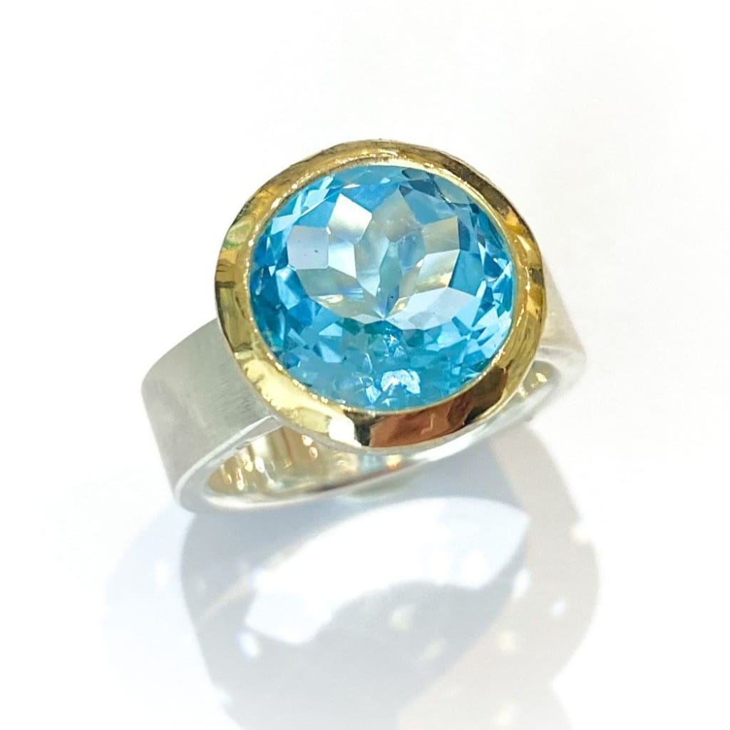 Libby Rak silver and gemstone cocktail ring - ring