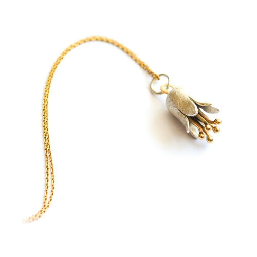 Libby Rak silver and gold Bluebell pendant - necklace