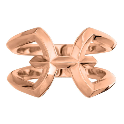 MXBX silver Pisces Zodiac ring - G / Rose gold vermeil -