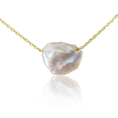 Origin 31 gold and baroque pearl Sherbet Pip necklace -