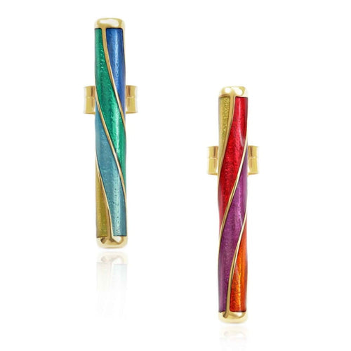 Origin 31 gold and enamel Rock earrings - earrings