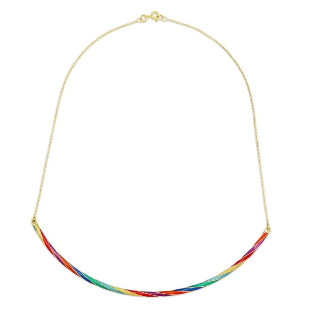 Origin 31 gold and enamel Rock necklace - necklace