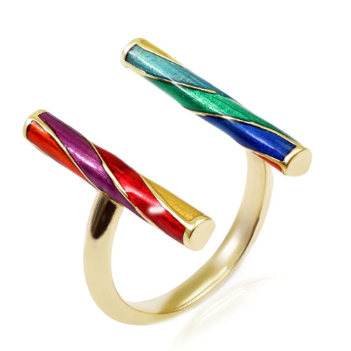 Origin 31 gold and enamel Rock ring - ring