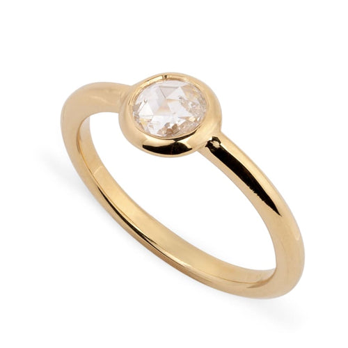 Reframed Jewelry gold and rose-cut diamond midi ring - ring