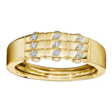 Load image into Gallery viewer, Royal Asscher gold and diamond DNA ring - 18ct yellow gold /