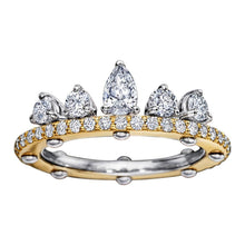 Load image into Gallery viewer, Royal Asscher gold and diamond DNA Tiara ring - K / Yellow