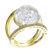 Load image into Gallery viewer, Royal Asscher gold and floating diamond Elara ring - 18ct