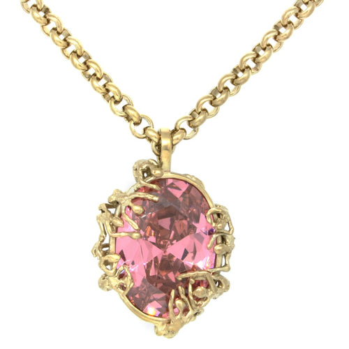 Ruby Taglight gold vermeil and pink cubic zirconia Last