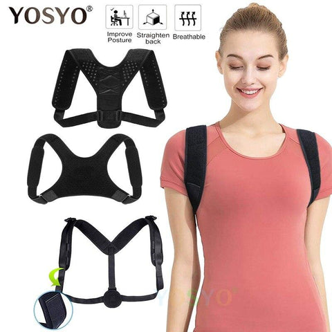 YOSYO™ Back/Shoulder Posture Support Brace - Indigo-Temple
