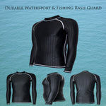 Durable Watersport & Fishing Rash Guard - Indigo-Temple