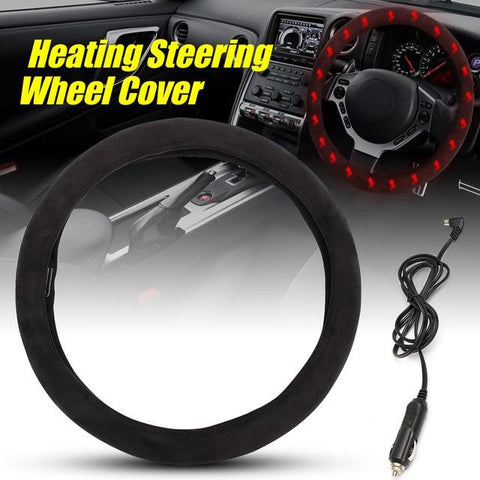 12V Heated Steering Wheel Cover - Indigo-Temple