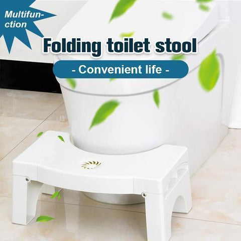 Folding Toilet Anti Constipation Step Stool - Indigo-Temple