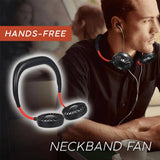 Hands-Free Dual-Wind Neckband Fan - Indigo-Temple