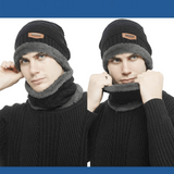 WindWarrior™ Wool Hat and Scarf Winter  Set - Indigo-Temple