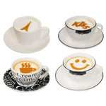 Coffee Stencil Template 16Pcs - Indigo-Temple