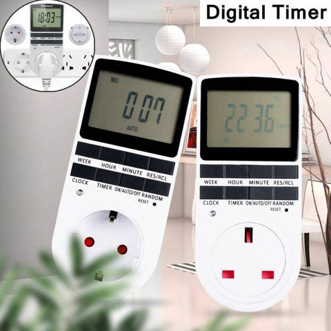 Energy-Saving Electronic Digital Timer - Indigo-Temple